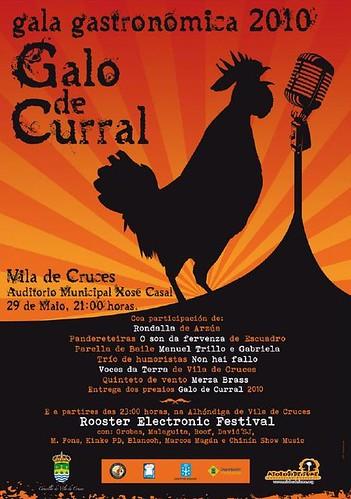 Vila de Cruces 2010 Gala gastronómica - cartel