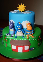 Backyardigans (The Cake is on the Table) Tags: birthday aniversario cake bolo backyardigans