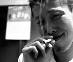 274/365: Takao (joyjwaller) Tags: portrait blackandwhite sexy kitchen face japan tokyo cigarette smoke fingers smirk judgment project365 japaneseboy adeepermeaningsomewhereimsure