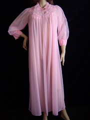 Pink Chiffon & Nylon Peignoir Robe Full Length Front (mondas66) Tags: ruffles robe lace chiffon lingerie boudoir lacy nylon nightgown frilly robes nightgowns nightdress peignoir ruffle nightwear frills frill ruffled nightie lacework frilled nighties nightdresses frilling frillings peignoirs befrilled