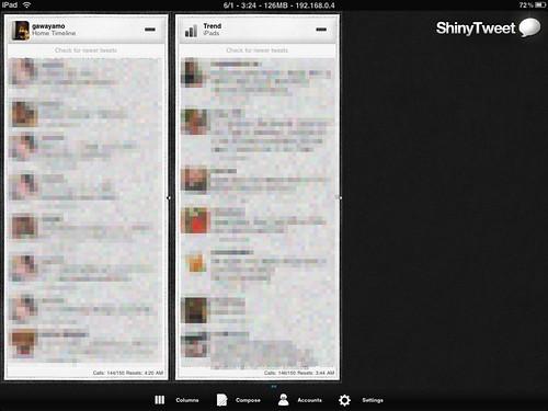 Shinytweet for iPad