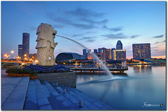 Singapore (fiftymm99) Tags: tourism hotel singapore esplanade merlion sin