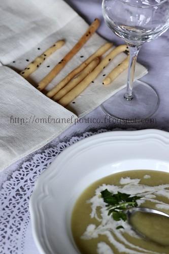 Crema di aglio selvatico e levistico