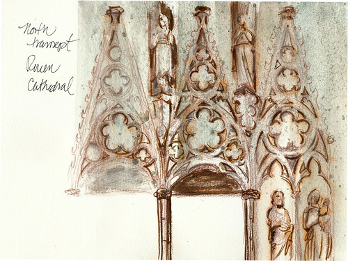 Normandy: Rouen cathedral transept
