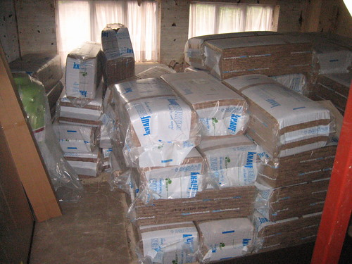 piles of insulation