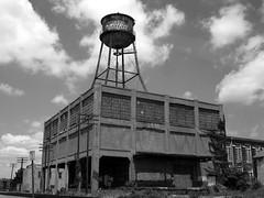 vodka place (frankieleon.) Tags: city sky blackandwhite bw streets building tower abandoned paint kentucky tag watertower tagged vodka louisville frankieleon felixthedeadcat
