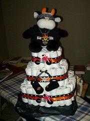 Harley Davidson Diaper cake (kelli.bergin) Tags: orange baby white black cute skull diy unique crafts bull homemade gift harleydavidson motorcycle biker diapers booties babyshower diapercake bikerbaby harleybaby uniquegift harleycake nappycake uniquebabygifts uniquebabygift