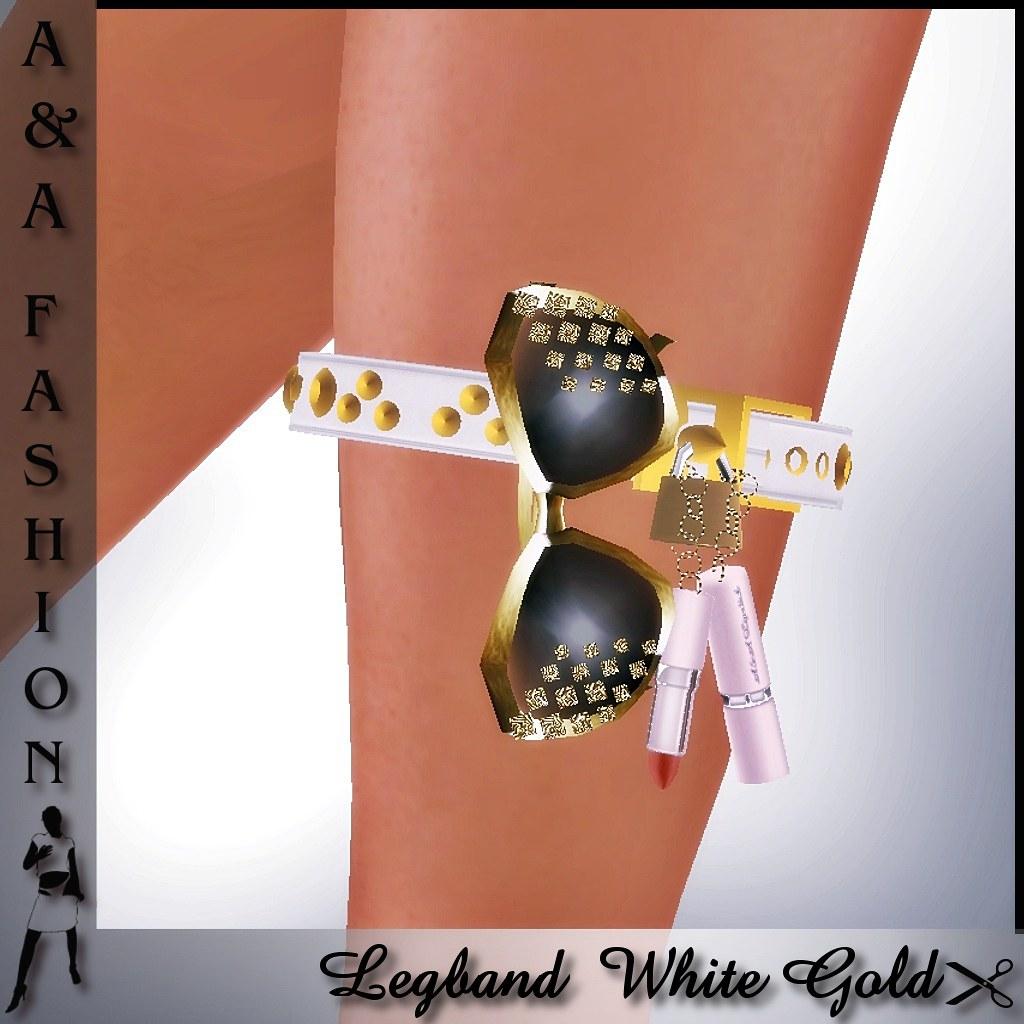 A&A Fashion Legband White Gold