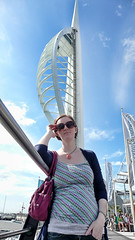 Spinnaker Tower (cyberchrome) Tags: panorama seascape photoshop hampshire portsmouth spinnakertower gunwharfquays panasonicdmctz3