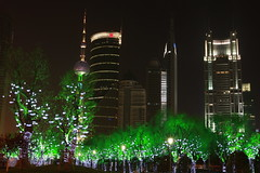 IMG_0403 (Dr. P.Yang) Tags: china trees light tower night century view skyscrapers shanghai bank pearl oriental pudong avenue lujiazui