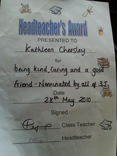 Kath 2nd award for d year (Headteacher/Principal)
