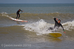Surfing small summer waves at Compton Bay, Isle of Wight (s0ulsurfing) Tags: ocean sea summer two people seascape beach water sport june fun island photography coast focus surf waves dof play action compton surfer board shoreline wave surfing spray coastal shore vectis isleofwight surfboard longboard surfers coastline rollers soulsurfer swell isle olas sup wetsuit wight wetsuits aktion 2010 freiheit groundswell surfen longboarding summery beachbreak comptonbay longboarders cutback beachculture s0ulsurfing coastuk jasonswain standuppaddleboarder summertimeuk welcomeuk