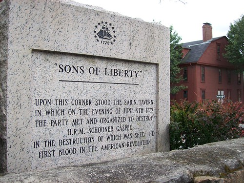 Gaspee marker/ Sons of Liberty