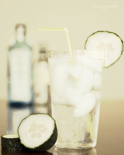 Fluids and solids for a gin tonic (by Ana G. R.)