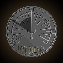 Lost Decade Games sundial (iron) logo