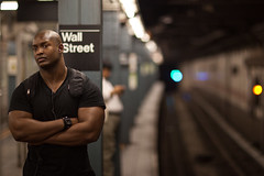 Even the Mighty Must Wait (pamhule) Tags: newyorkcity newyork canon subway streetphotography 85mm wallstreet  85mm12 canon85mm   5dmarkii pamhule jensschott jensschottknudsen