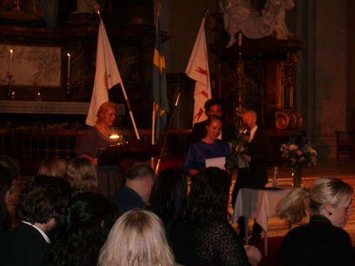 Stipendieutdelning till Röda Kors-sjuksköterskor i Gustav Wasa kyrka