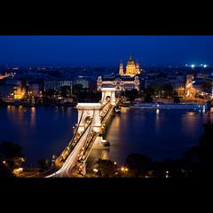 """One night in Budapest"" (mimmopellicola) Tags: street longexposure light red night hungary budapest mimmopellicola szchnyichainbridge"