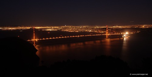 Golden Gate in the night