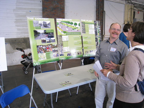 6.14.10 Peter Sharing our Park Boulevard Vision at the Parks Levy Opportunity Fund Open House at Magnuson Park