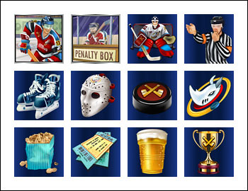 free Hockey Hero slot game symbols