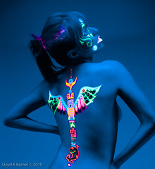Native American UV (Lloyd K. Barnes Photography) Tags: art meghan native fineart fine tribal nativeamerican blacklight bodypainting joleen firstnation lloydkbarnes