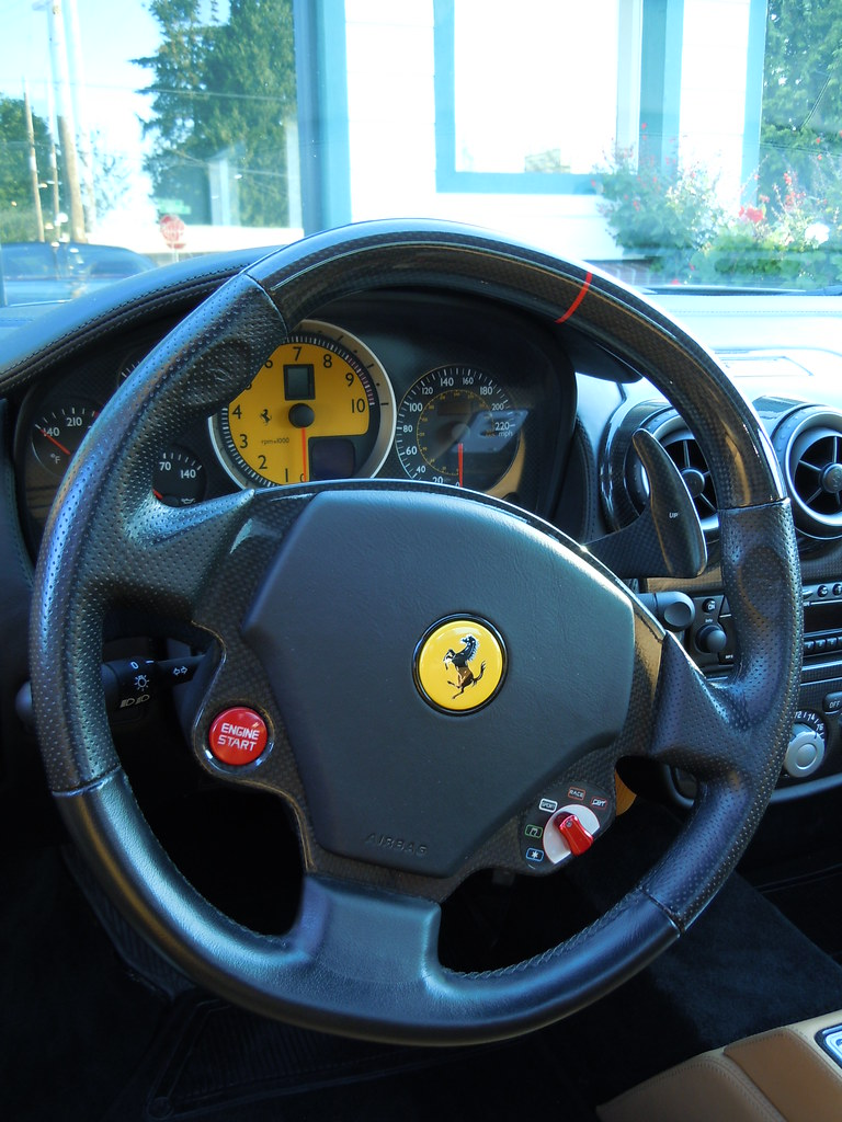 2005 Ferrari F430 Spider F1, carbon fiber steering wheel