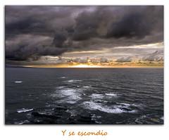Segunda parte (Alber F1.4) Tags: sol azul atardecer mar asturias colores nubes dorado resplandor cadevedo