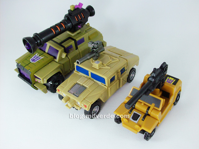 Transformers Munitioner FansProject - modo alterno vs Swindle Animated vs Swindle G1