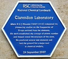 Photo of Henry Gwyn Jeffreys Moseley blue plaque