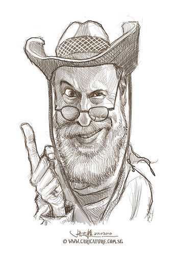 digital caricature sketch of William Fiesterman