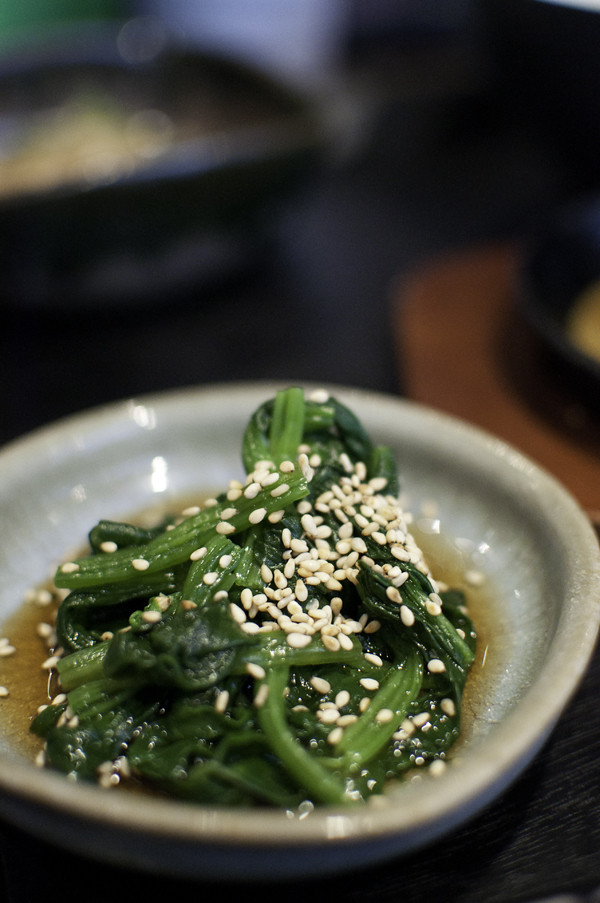 Ohitashi - Spinach with Soy, Mirin and Dashi