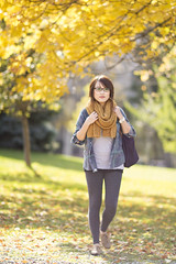 Fall Threadcount (tyler hayward) Tags: portrait people orange fall leaves fashion canon bokeh 7d 12 85 8512l