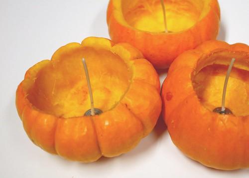 Pumpkins ready for wax