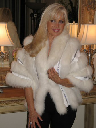 Ivanka Trump White Fur and Leather