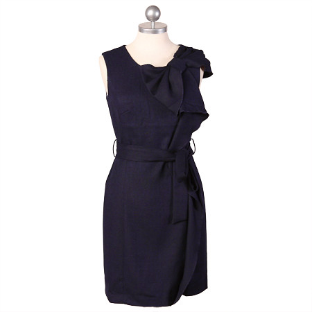 ruche_simple elegance navy dress