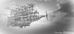 Albatross airship -22 (Poppys_Second_Life) Tags: popi popikone popikonesadventuresin2l popisadventuresin2l 2l secondlife virtualphotography poppy picsbyⓟⓞⓟⓟⓨ sl airship albatross aviation flight fantasy surreal spaceship
