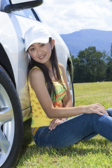 20050904_035 (ChrisandMei) Tags: mei pretty chinese asian woman girl feminine femme fille attractive sweet cute beauty lovely amateur wife gorgeous beautiful glamour hair 女孩 女人 mujer niña женщина denim jeans hat cap car