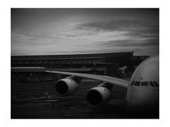 closing the circle (vfrgk) Tags: airport airplane trip travel travelling cloudysky melancholic monochrome monotony blackandwhite bw