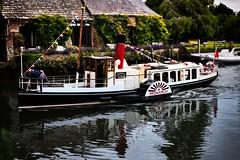 Monarch Boat (Sean McCammon) Tags: wareham steam powered steampowered boat tourist dorset river