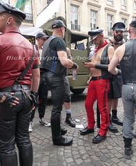 """bootsservice 17 1600537 (bootsservice) Tags: paris """"gay pride"""" """"marche des fiertés"""" bottes cuir boots leather sm motards motos motorcyclists motorbiker uniforme uniform"""