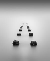 Fade Away (TS446Photo) Tags: longexposure blackandwhite monochrome seascape pipe timing nothing minimal fog