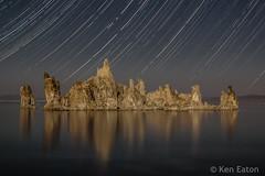 Mono Lake at Night (Ken Eaton) Tags: 395 landscape longexposure monolake night nightphotography sierras startrails lake stars tufa