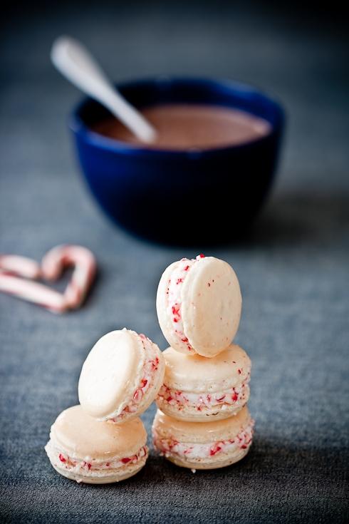 Candy Cane Macarons