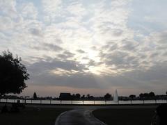 """""""حديقة """"سباير (Sarah Wkh) Tags: بحيرة غروب الشمس أشعة مياه بركة سجر"""