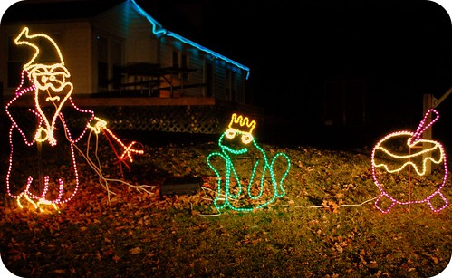 Christmas lights, wizardy.
