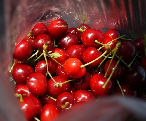 4 of 12: Cherries Bought at the Roadside at St Peter's Pass