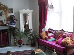 living room (Romany Soup) Tags: pink light white french colourful cushions