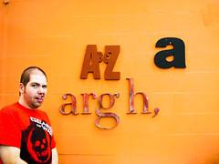Spencer at Oficina Tipogrfica So Paulo (Priscila Darre) Tags: brazil man brasil oficina paulo so typographic tipogrfica otsp