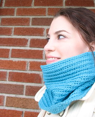 Merino Neck Warmer (CatLady4Life) Tags: blue wool fashion neck diy colorful bright turquoise crochet craft merino etsy crafty warmer neckwarmer ribbing